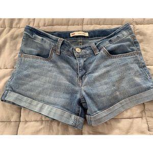 levi's shorty shorts size 14 girls
